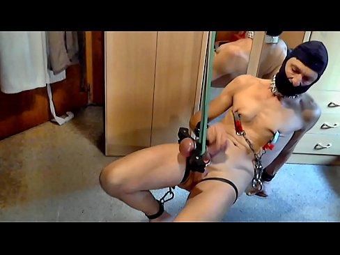 naked slave cbt humbler bondage big balls bdsm