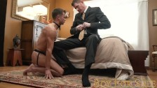 BoyForSale – Horny boy gets fucked after submitting to Dom daddy owner
